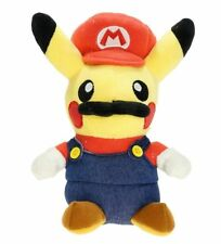 "Pokemon Pikachu Super Mario Plush Doll Stuffed Figure Toy 5"" Collectible Gift"