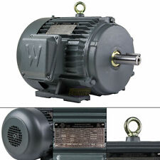 5 HP 3 Phase Electric Motor 3600 RPM 184T Frame TEFC 230/460 Volt Severe Duty