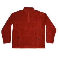 LL Bean Polartec T Snap Fleece Men's XLT Pullover Jacket Orange With Pockets