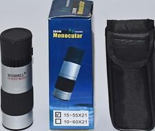481 BUSHNELL 15-55X21 MONOCULAR WITH ZOOM FEATURE (New)WITH PROTECTIVE CASE