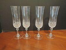 Cristal d Arqus France set of 4 Champagne Flutes