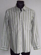 Massimo Dutti mens cotton long sleeve striped shirt size M