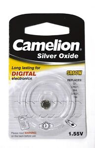 Knopfzellen Silver Oxide Uhrenbatterien Camelion AG1 SR60W 364 164LR621-1,55V