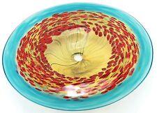 "Evolution By Waterford Robert Held California Poppy Platter 22"" NIB Limited Ed."