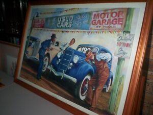 "John Rigby Print Titled ""Honest John"" A Car Salesman."