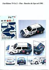 Decal - Fiat  RITMO Gr.2 - PLAS  - Rally Boucles de Spa   1981