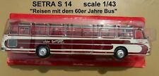 n° 86 SETRA S 14 Autobus et Autocar du Monde 1961 1/43 NEUF en BOITE  new