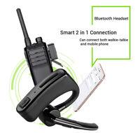 Walkie Talkie BT-4.0 Headset Earpiece + PTT For Motorola iPhone Samsung Phone