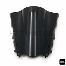 Double Bubble Windscreen Windshield ABS for Yamaha YZF R3 R25 2015-2016 Black