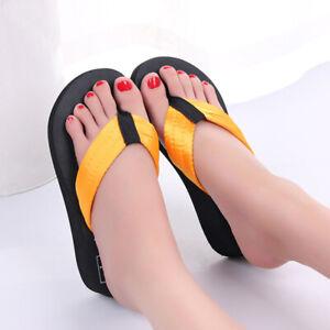 Women's Casual Summer Sandals Slippers Shoes Wedge Platform Flip Flop Fashion