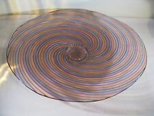 ART GLASS FOOTED SERVING PLATTER by LUCY BERGAMINI, 2005