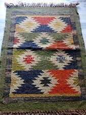 Indian Handmade Kilim Rug Runner Carpet Decorative Throw Area Rug Jute Floor Mat