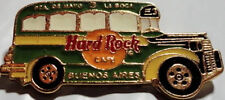"Hard Rock Cafe BUENOS AIRES 1990s ""COLECTIVO"" BUS PIN Green with Yellow #58468"