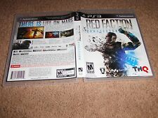 RED FACTION ARMAGEDDON PLAYSTATION 3 PS3 LN 100% PERFECT CONDITION COMPLETE!