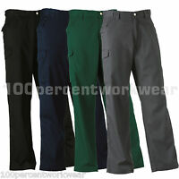 """Russell 001M TALL Leg Mens Cargo Combat Polycotton Work Trousers Pants 28"""" - 48"""""""
