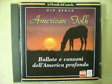 CD  AMERICAN FOLK ballate e canzoni dell'America profonda - editoriale