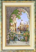 Broderie Point de Croix Compté Paysage Venetian Tale