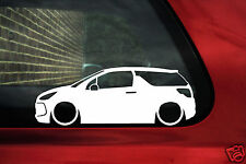 2x LOW Citroen DS3 VTi, Racing, TPH, HDi silhouette outline stickers / decals