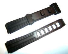 Negro plástico de resina de PVC de 16 mm no-buckle-free buckleless Correa De Reloj Unisex De Casio