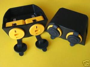 12V, 24V DC power dual T socket for 2 pin Clipsal Plug,4wd,Caravan,Camper,Marine