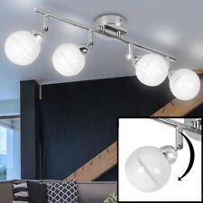 rétro Plafonniers salon Spot Baguette bille Spot Chrome verre lampe