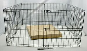 "E-Coat Steel 8~Panel INDOOR/OUTDOOR 48""X48"" 24"" H Folding Yard Pet Dog Play Pen"