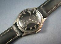 Vintage Helbros WW2 Era Military Style Sterling Silver Mens Watch  7J 1942