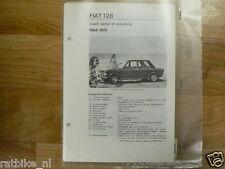 F24-FIAT 128 COACH,SEDAN EN STATIONCAR 1969-1970 -INFO