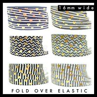 "Small Zig Zag  Fold Over Elastic U Choose  5//8/""   3-5-10 Yards Headbands Ties"