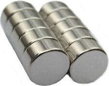 10 Neodymium Magnets 1/2 x 1/4 inch Disc N48 Rare Earth