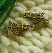 Free Ship 50 pieces Antique bronze horse charms 21x18mm #2261