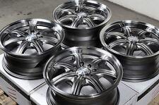 14x6.0 Gun Metal Wheels Rims 4x100 4x114.3 4 Lugs Scion IA IQ XB XA Yaris Civic