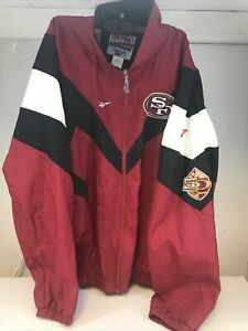 Vintage Reebok San Francisco SF 49ers Pro Line Zip Jacket Men's XXL 2XL