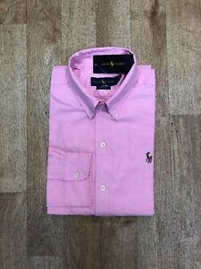 Ralph Lauren Men's Custom Fit Oxford Shirt - Pink - Large