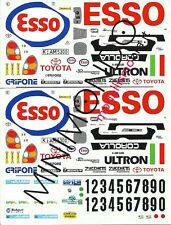 DECALS ESSO TOYOTA COROLLA GRIFONE RALLY LANA 1999 ZUCCHETTI 1/43 RACING43