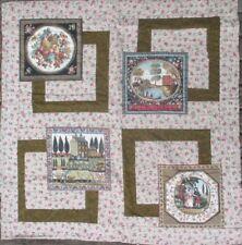 Handmade Lap Quilt Wall Decor Home Sweet Home Fall Farm Scene Brown 36 x 38