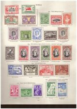 Tonga  - King George VI MINT STAMPS FROM SG Printed Album
