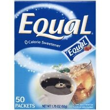 Equal Sweetener, Packets, 50-Count Boxes