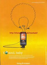 "Sony Ericsson W850i ""Soul Baby"" Phone 2007 Magazine Advert #3134"