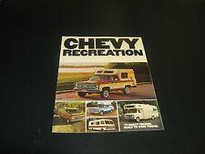 Chevy Truck  Recreation Full Color Catalogue 1977 Van Pickup Motorhome