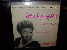 """ELLA FITZGERALD with a song in my heart ( jazz ) 7""""/45 picture sleeve - hmv uk"""