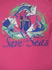 Guy Harvey Save Our Mares Pez Espada Bolsillo Tee-Pink Pequeño T-SHIRT-A1111