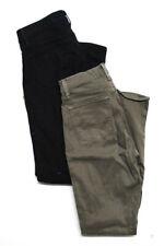 J Brand Womens High Waist Skinny Slim Leg Jeans Pants Green Black Size 27 Lot 2