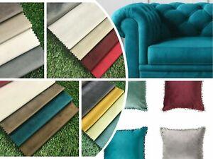 Regents Lux  French Plush Velvet Soft Cushion Sofa Curtains Upholstery Fabric