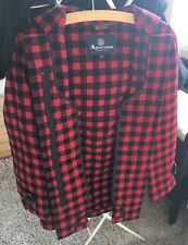 Aquascutum Women's Wool Duffle Coat in Red Black Check XS