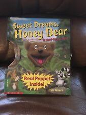 SWEET DREAMS, HONEY BEAR A Hand Puppet Children's Book Tim Weare Vintage