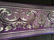 wunderschöne Barock Bordüre  ,LILA  ,VERSAC  5m lang 17,7 cm breit