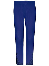 """Together Kaleidoscope Size 8 Blue Lace Trim Cropped TROUSERS 25 """" I/Leg Elegant"""