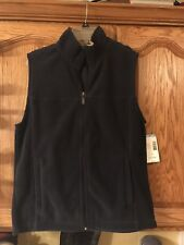 Outdoor Life Mens' Polar Fleece Vest Navy Blue Size Small  - Brand New With Tags