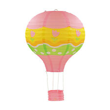 """30cm/12"""" Foldable Hot-Air Balloon Paper Lantern With Basket Party wedding Decor"""